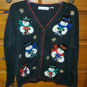 Snowmen vintage holiday themed sweater